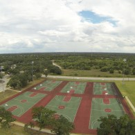 Basketball courts Aerial